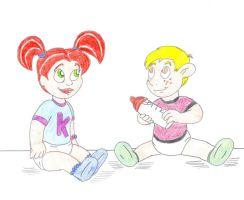 Babies Kim and Ron by Jose-Ramiro
