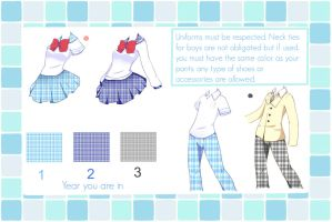 Hakone Gakuen school uniforms by Flamyxchan