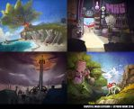 Background concepts by FlintofMother3
