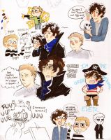 BBC Sherlock doodles by Sun-kiss