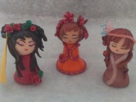 Kokeshi en pate Fimo by Lillycherry-Creation