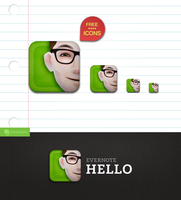 Evernote Hello icon by Draganja