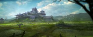 Japanese castle by Yellomice