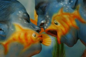 Goldfish kiss by ATA2008