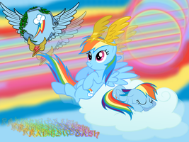 Raindow dash Wallpaper by NightSilverChelly