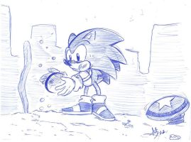 Classic Sonic sketch by capitanusop