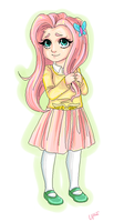 Fluttershy Flutterby by universe-punch