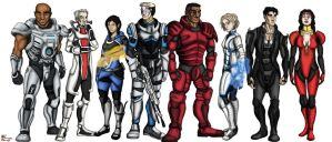 Mass Effect: Human Crew by LilChimp