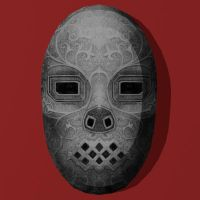 Papercraft Death Eater Mask 2 by Tektonten