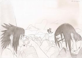 Sasuke and Itachi by Melani-Uchiha