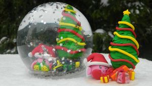 Kirby Snow Globe GIVEAWAY + (Tutorial) by NerdEcrafter
