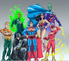 Justice League - modern 7 by DragonArcher