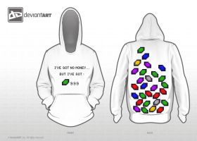 no money but rupees - hoody by NicPi