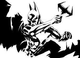 Batman Beyond Inked by Plugin848y