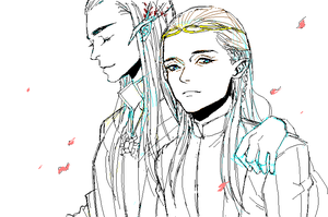 The king and prince by cosom