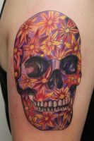 flower skull by graynd