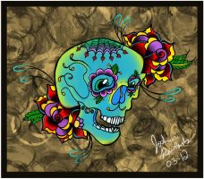 Sugar Skull Day of The Dead by Joshua-Rowlands