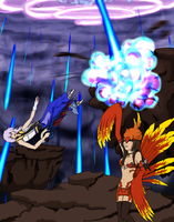 DissidiaAces C2 R2: Chocolina vs. Riku by Ruby-Hime