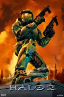 Halo 2 Poster by SKCRISIS