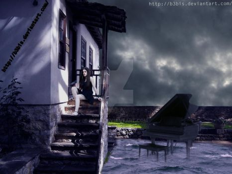 Piano ghost by B3bis