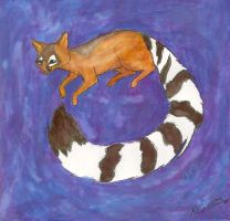 Floating Ringtail by GuacamoleOg