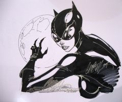 CatWoman Con sketch 1 by J-Scott-Campbell