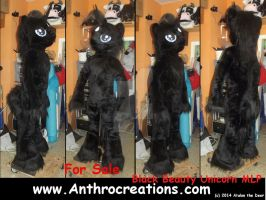 Black Beauty MLP Fursuit Pony - by AtalontheDeer