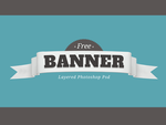 Free Layered PSD Banner-Badge by Giallo86