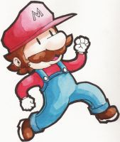 Super Mario Watercolor 2 by nded