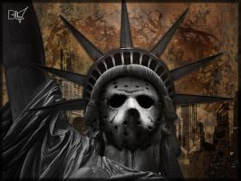 statue of liberty, blinc, open by Paullus23