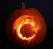 Dragon Pumpkin Carving by Thoughts-Existence