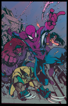 Comic Colours - Avenging Spiderman Promo by michaeldoig