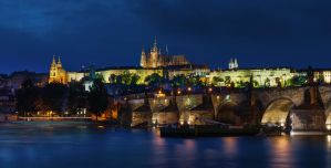 Praha on night by AlexGutkin
