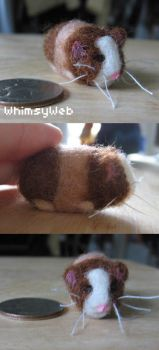 OOAK Needle felted Guinea Pig by WhimsyWeb