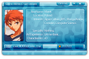 Shirou Profile Card by SoNiC4000
