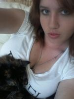 my kitty and I by SlayerBrittany1265