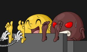 Pac-Man tickles by Lord-Reckless by T95Master