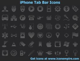 iPhone Tab Bar Icons by Iconoman
