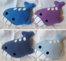 Wailord Pokemon Colors by P-isfor-Plushes