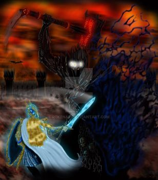 Morgoth and Fingolfin Final by rokenart