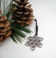Snowflake Maille Ornament by SerenityinChains