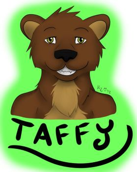 Taffy the Otter Badge - Commission by Taffybear
