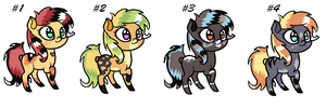 Pony Adoptables 2 CLOSED by TinyWolfy
