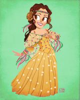 Gold Picnic Gown by Emmacabre