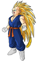 Kid Vegetunks SSJ3 by RobertoVile
