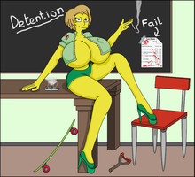 Edna Krabappel's Detention by WorldofSolgamia