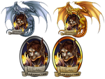 Pawkits, BlizzCon 2015 badge by VenneccaBlind