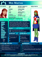 SGPA TEMPLATE with Miss Martian - B05 by Meibatsu