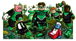 Lego Green Lanterns by Pusskyfly