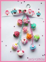 Cupcake Bag Clip by Ambient-Lullaby